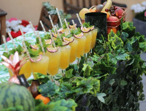 Passionsfrugt Cocktail - Serving