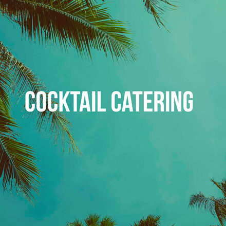 cocktail catering jungle background