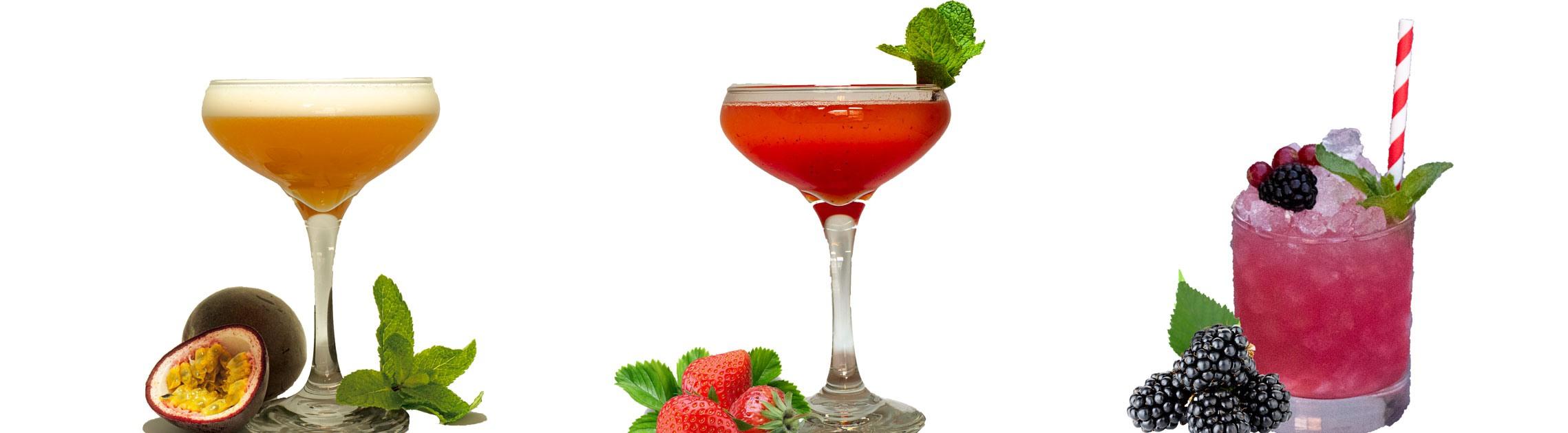 passionfruit cocktails strawberry cocktails bramble cocktail